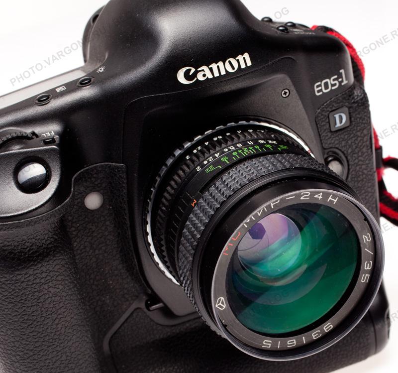 переходник с байонета Nikon на Canon EOS