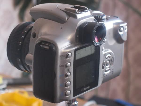 Tenpa 1.36x без резинки-наглазника, на камере