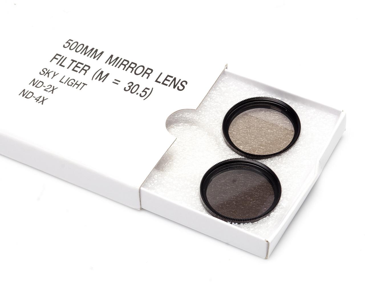 зеркально-линзовый объектив Bower 500/8 - ND-фильтры
